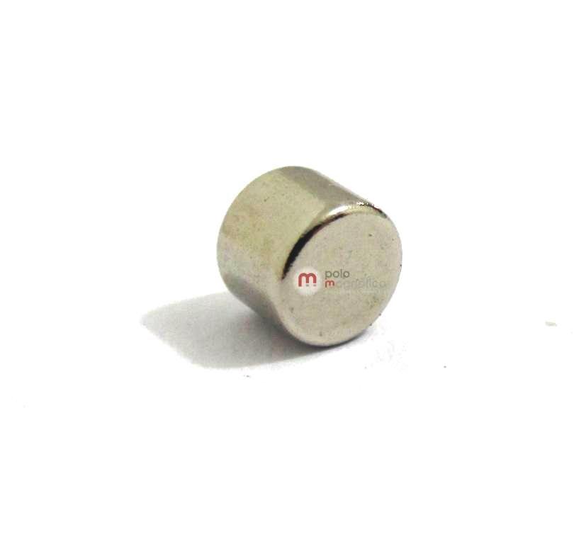 Imã de Neodímio Disco N35 5x4 mm  - Polo Magnético