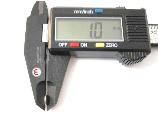 Imã de Neodímio Disco N35 6x1 mm  - Polo Magnético