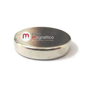 Imã de Neodímio Disco N35 6x2 mm  - Polo Magnético
