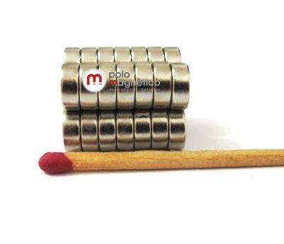 Imã de Neodímio Disco N35 8x3 mm  - Polo Magnético