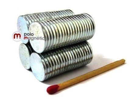 Imã de Neodímio Disco N35 zinco 14x1,5 mm  - Polo Magnético