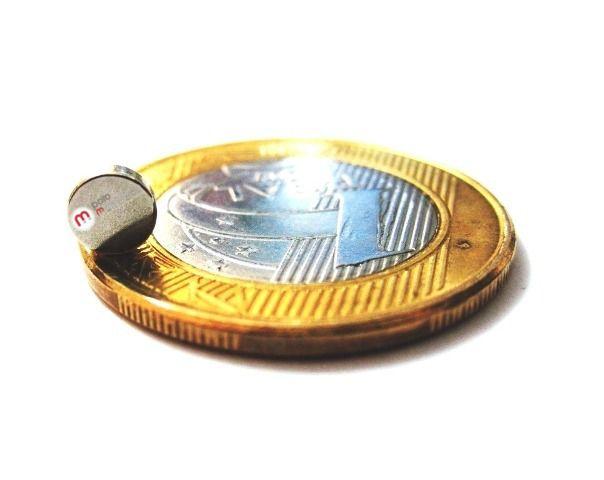 Imã de Neodímio Disco N35SH 5x1,5 mm 140°C  - Polo Magnético