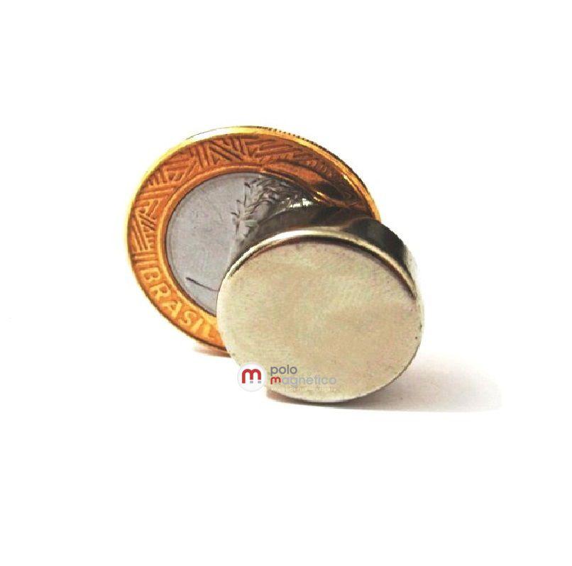 Imã de Neodímio Disco N42 20x10 mm  - Polo Magnético