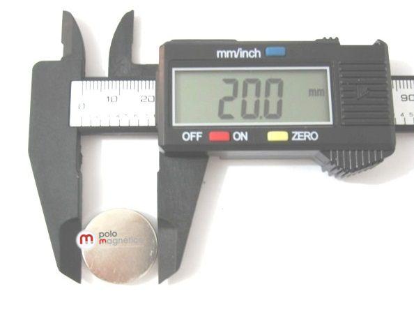 Imã de Neodímio Disco N50 20x2 mm  - Polo Magnético