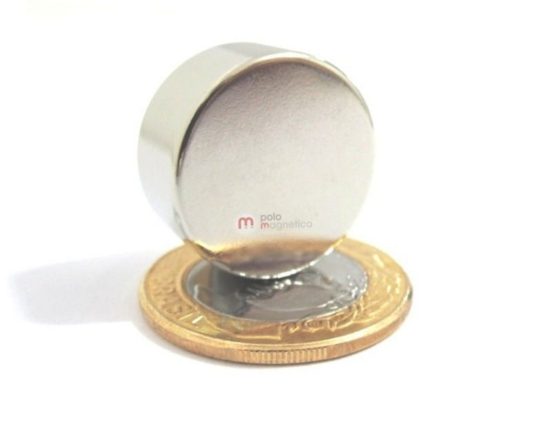 Imã de Neodímio Disco N52 22x10 mm