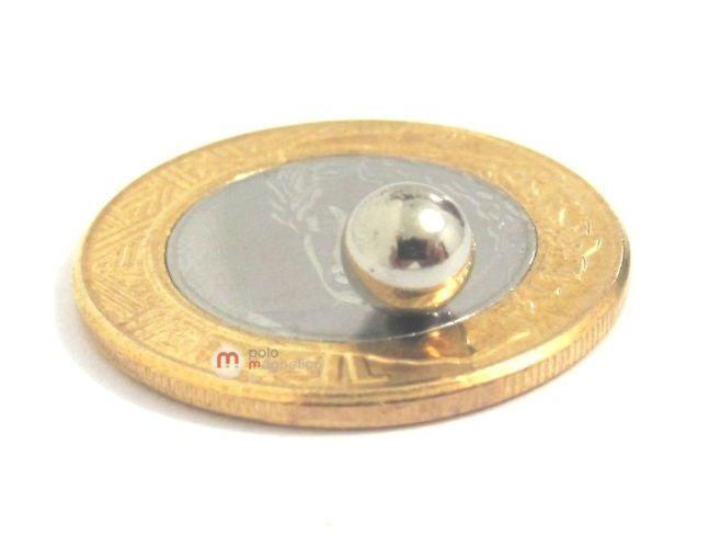 Imã de Neodímio Esfera N35 6 mm