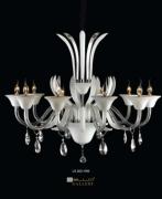 Lustre Cristal Branco - 10 Lâmpadas