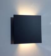 Arandela Quadrada facho duplo Preta - BL8054-PF