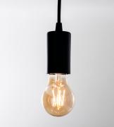 Pendente Branco 126 -  C/ Lampada Led Filamento Soq E27 - Lampada Gratis!