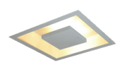 Plafon Luz Indireta Reb. Quad. Embutir C/ 4 Lamp Led G9 5w - 12-D07Q