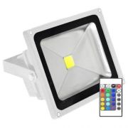 Refletor LED RGB 30W - C/ Controle Remoto