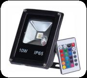 Refletor led RGB Slim 10w- Com Controle