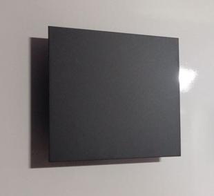 Arandela Quadrada facho duplo Preta - BL8054-PF  - 9led