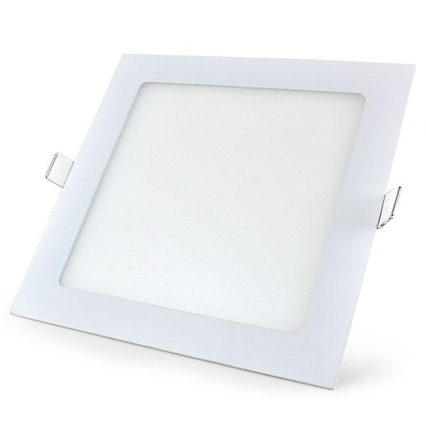 Luminária LED Embutir Quadrada 18w  - 9led