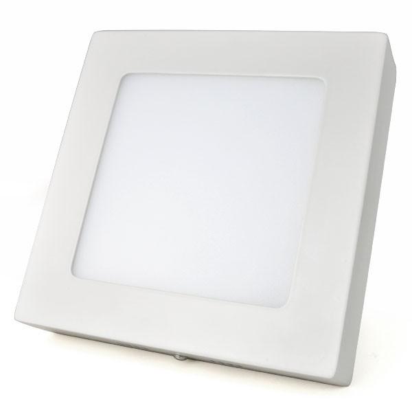 Luminária LED Sobrepor Quadrada 18w  - 9led