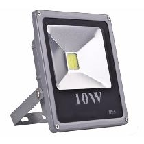REFLETOR LED SLIM 10W - CINZA - Promoção  - 9led