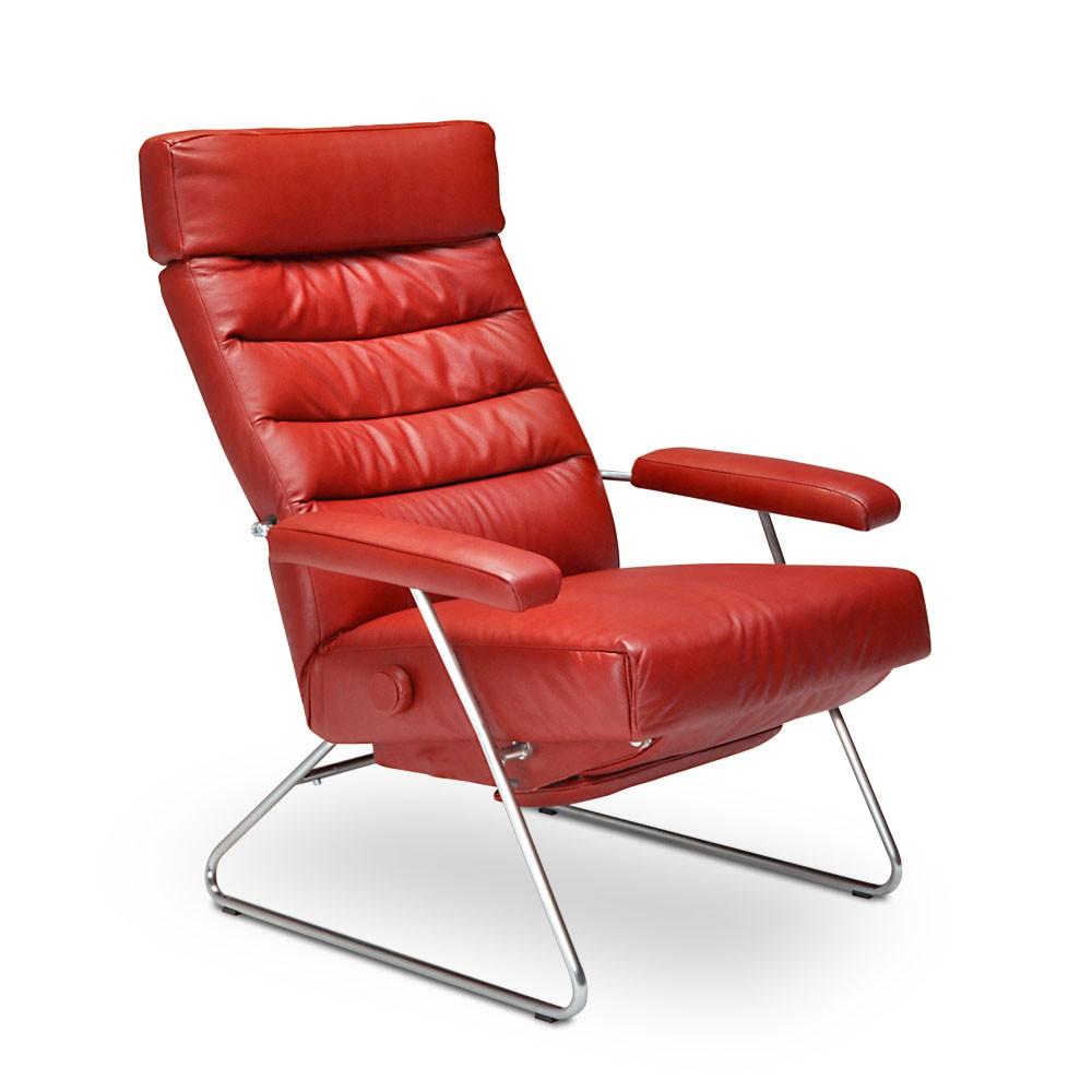 Poltrona reclinável Adele em couro  - Interdomus LAFER