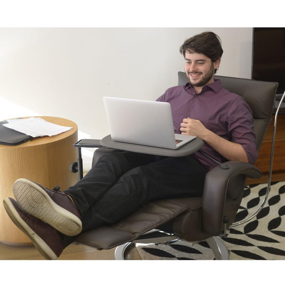 Home office Lafer com Poltrona Lady em couro  - Interdomus LAFER