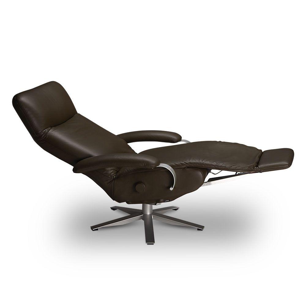 Poltrona reclinável Carrie em couro  - Interdomus LAFER