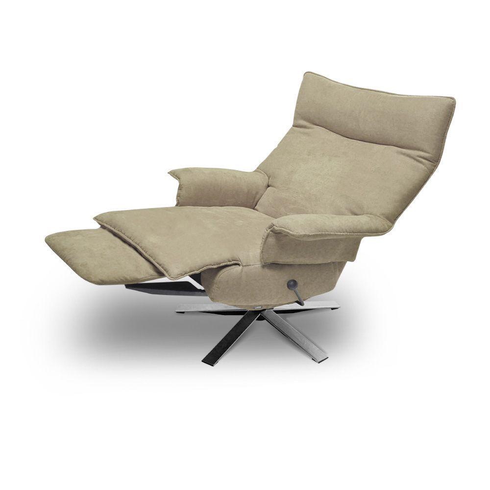 Poltrona reclinável Valentina em tecido  - Interdomus LAFER