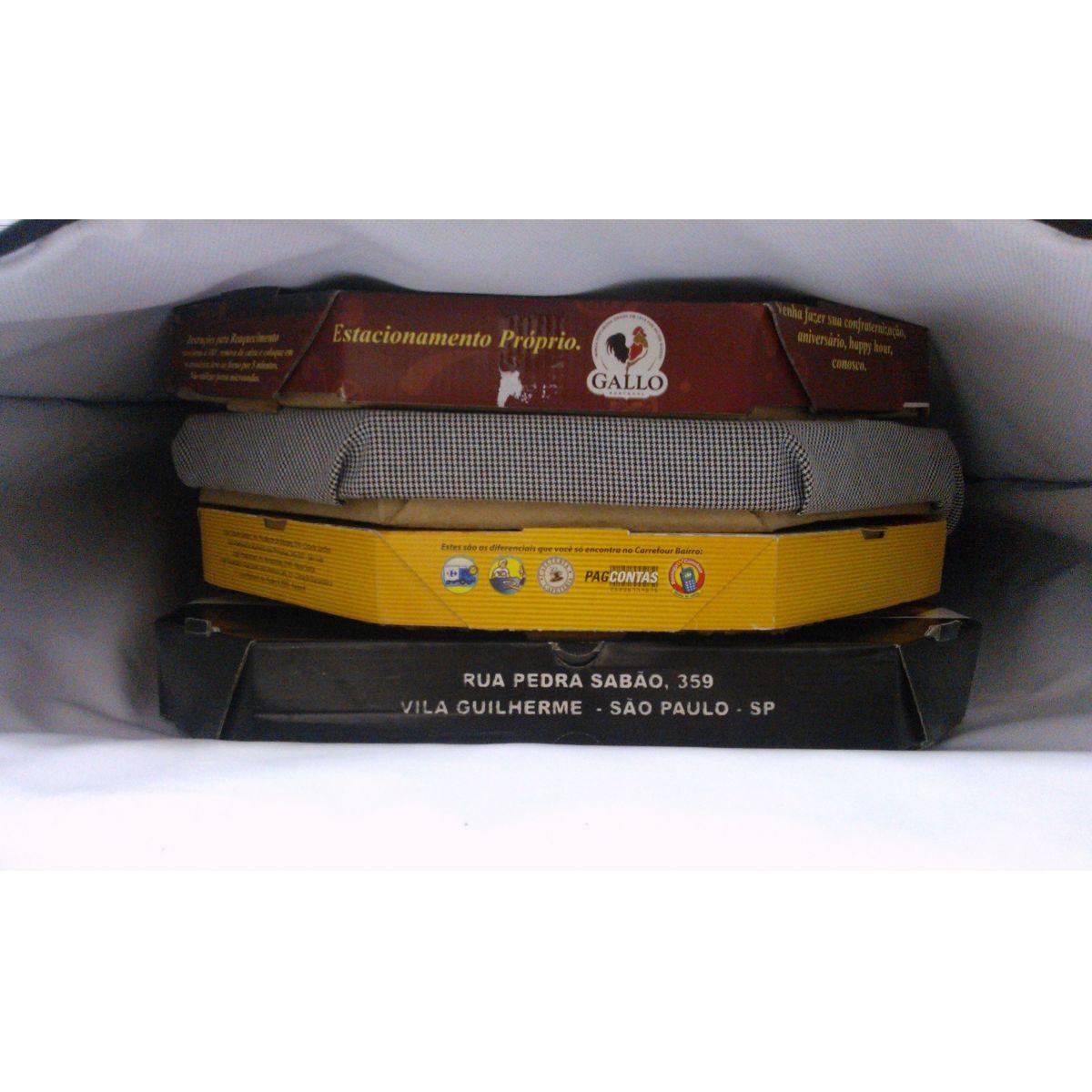 TERMO BAG DE 40 CM FORMATO QUADRADO P/03 PIZZAS  - Fórum de Pizzas Vendas online
