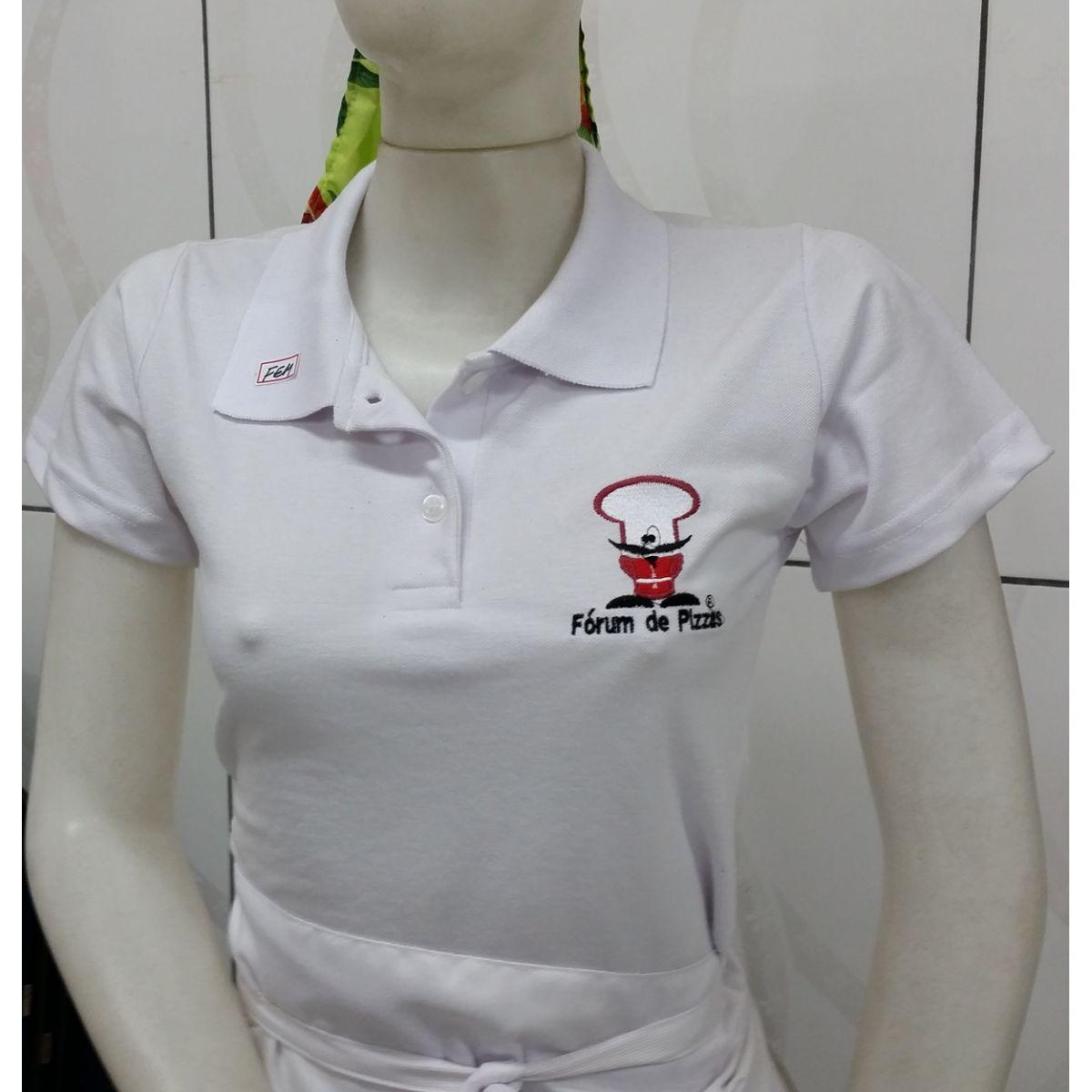 a57ae09b59f1a CAMISETA GOLA POLO FEMININA (P - M - G) - Fórum de Pizzas Vendas online