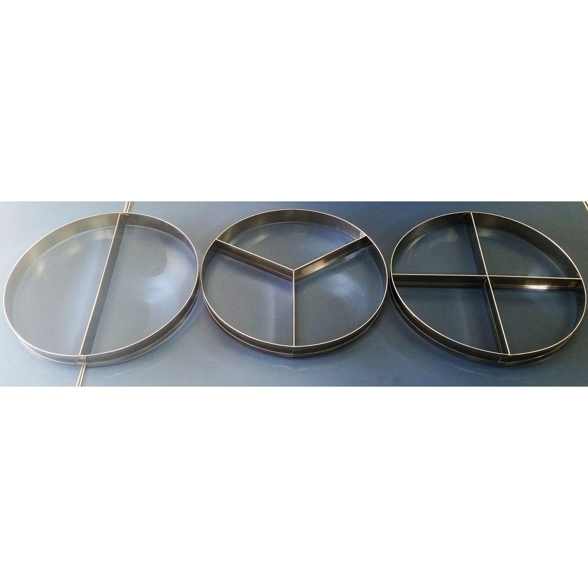 APARTADORES - 2, 3 e 4 SABORES INOX. P/PIZZAS DE 40 CM  - Fórum de Pizzas Vendas online