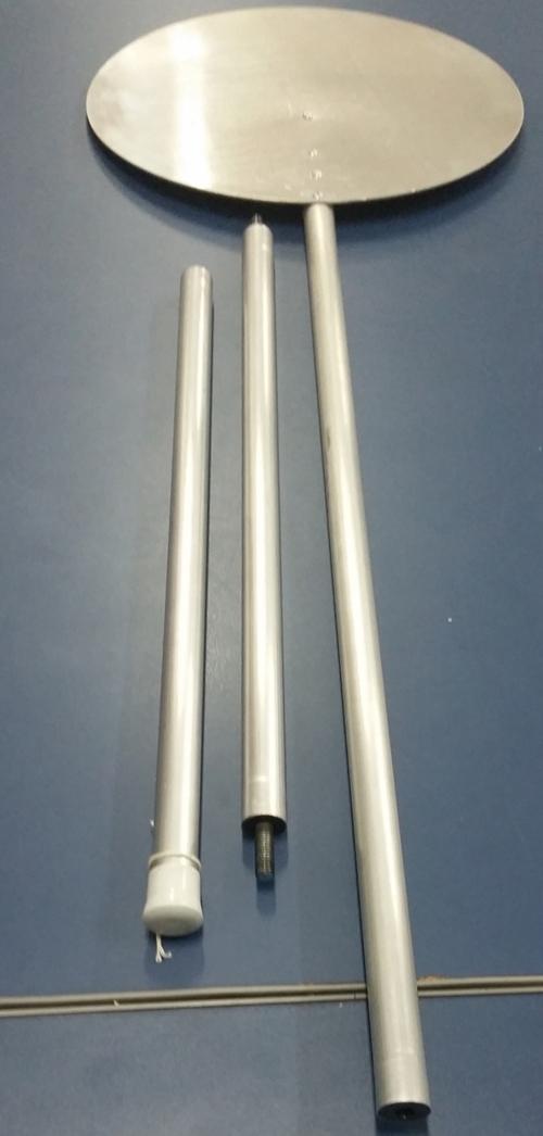 Pás de Alumínio com cabo Retrátil Rosqueável 45 CM  - Fórum de Pizzas Vendas online