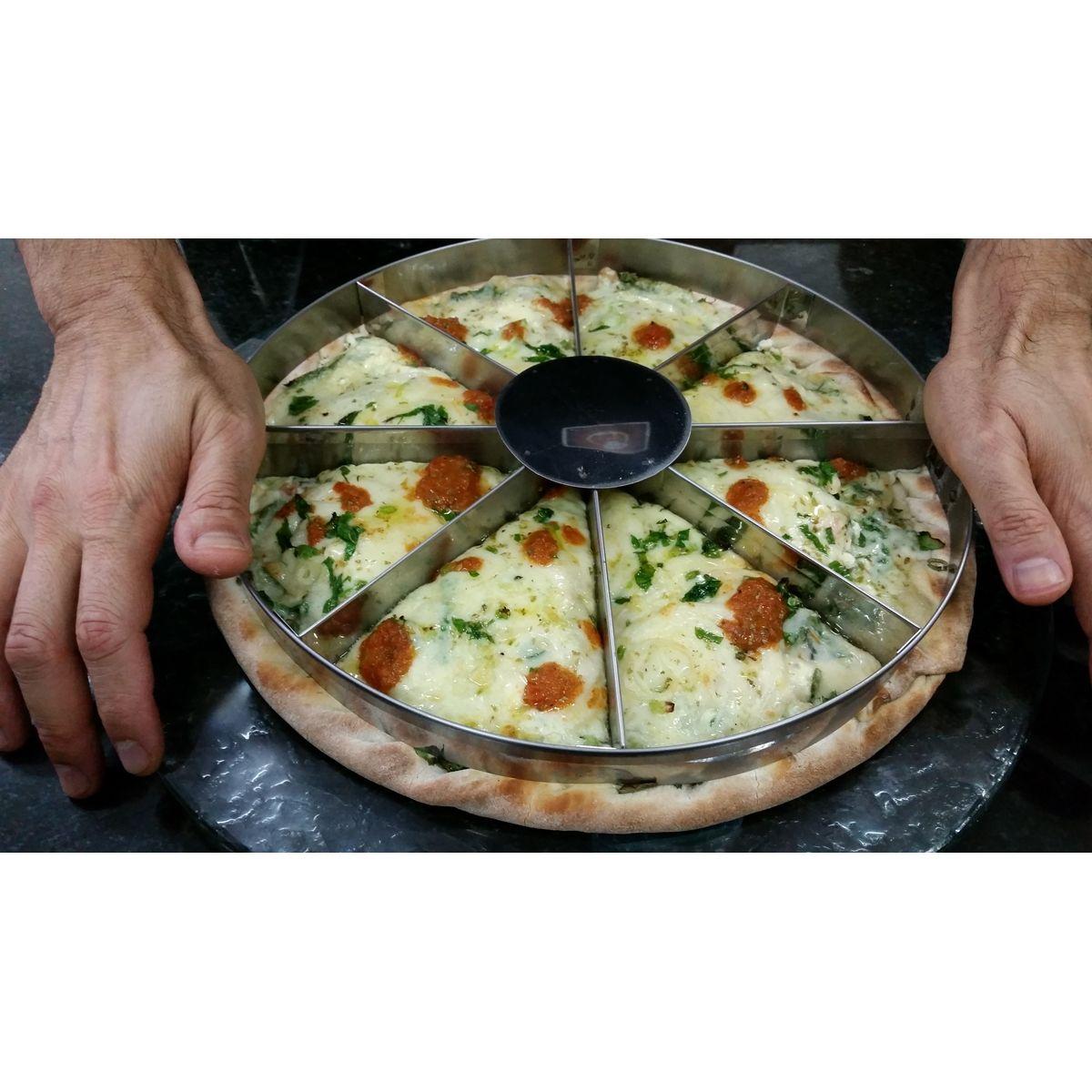 MARCADOR DE PIZZA 05 PEDAÇOS P/ PIZZAS DE 38/40 CM  - Fórum de Pizzas Vendas online