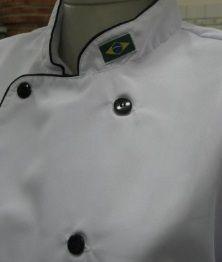 DOLMÃ MASCULINO BRANCO  POLIESTER / OXFORD  -  P - M - G - GG - GGG - GGGG  - Fórum de Pizzas Vendas online