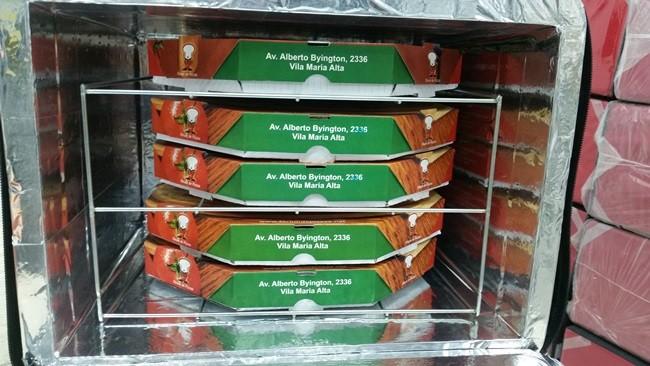 SUPORTE CAIXA DE PIZZAS P/MOCHILAS MOTOBOY - 5 UNIDADES - 35 CM  - Fórum de Pizzas Vendas online