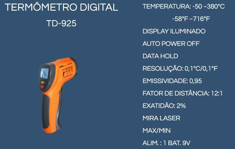 TERMÔMETRO DIGITAL MIRA LASER NACIONAL ( -50° ~ 380°)  - Fórum de Pizzas Vendas online