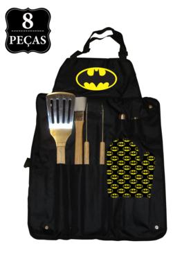 Kit Churrasco DCO Batman 8 pçs Preto