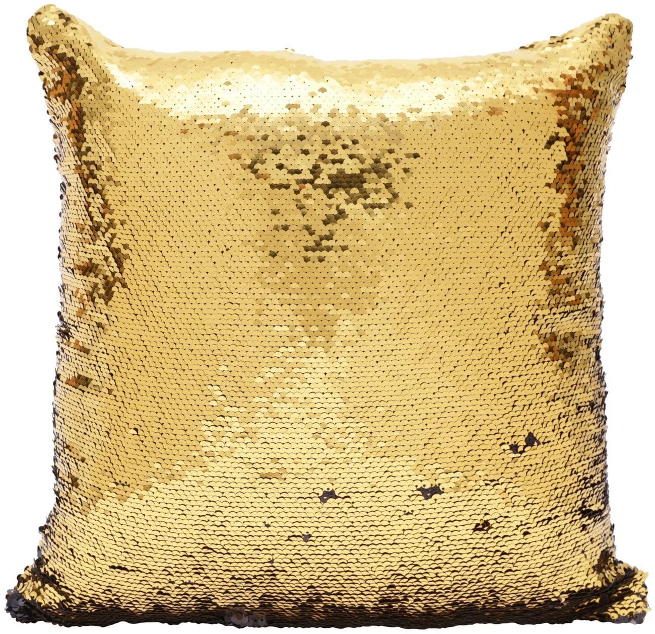 Capa para Almofada Double Face - Preta e Dourada
