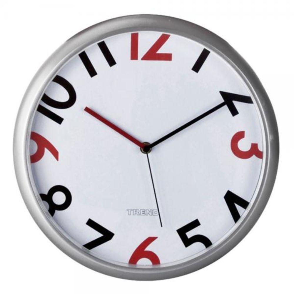 Relógio Ponteiro e Números Coloridos De Plastico 30cm