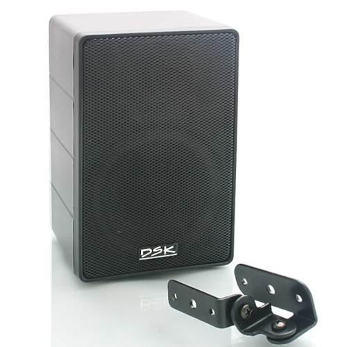 Kit Som Ambiente Amplificador 3 setores + 6 Caixa Acústicas com Suporte