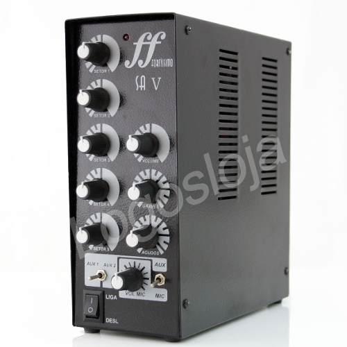 Kit Som Ambiente Amplificador 5 setores + 10 Arandelas coaxiais 68W