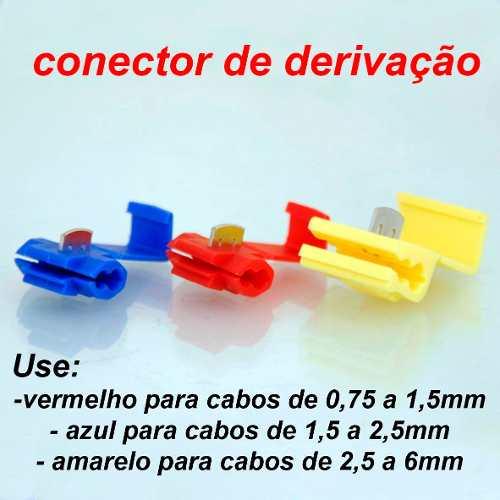 Conector De Torção E Derivação Emenda Cabos Fios Kit com 590pçs