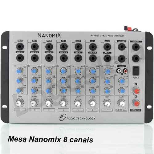 Mesa De Som Mixer 8 Canais Nanomix Na802r  Bivolt Mixagem