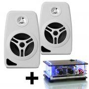kit som ambiente amplificador receiver ORION XTR SLIM 1002 BT com caixa acústica