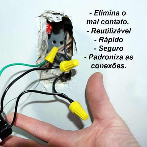 Conector de Torção Emenda Para Cabo Fio kit com 470pçs