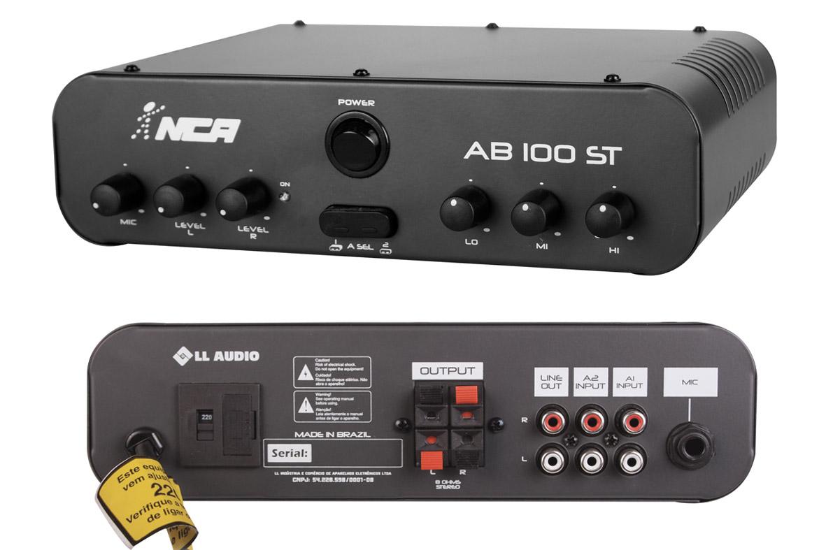 Amplificador potência Nca Ab100st  Estéreo