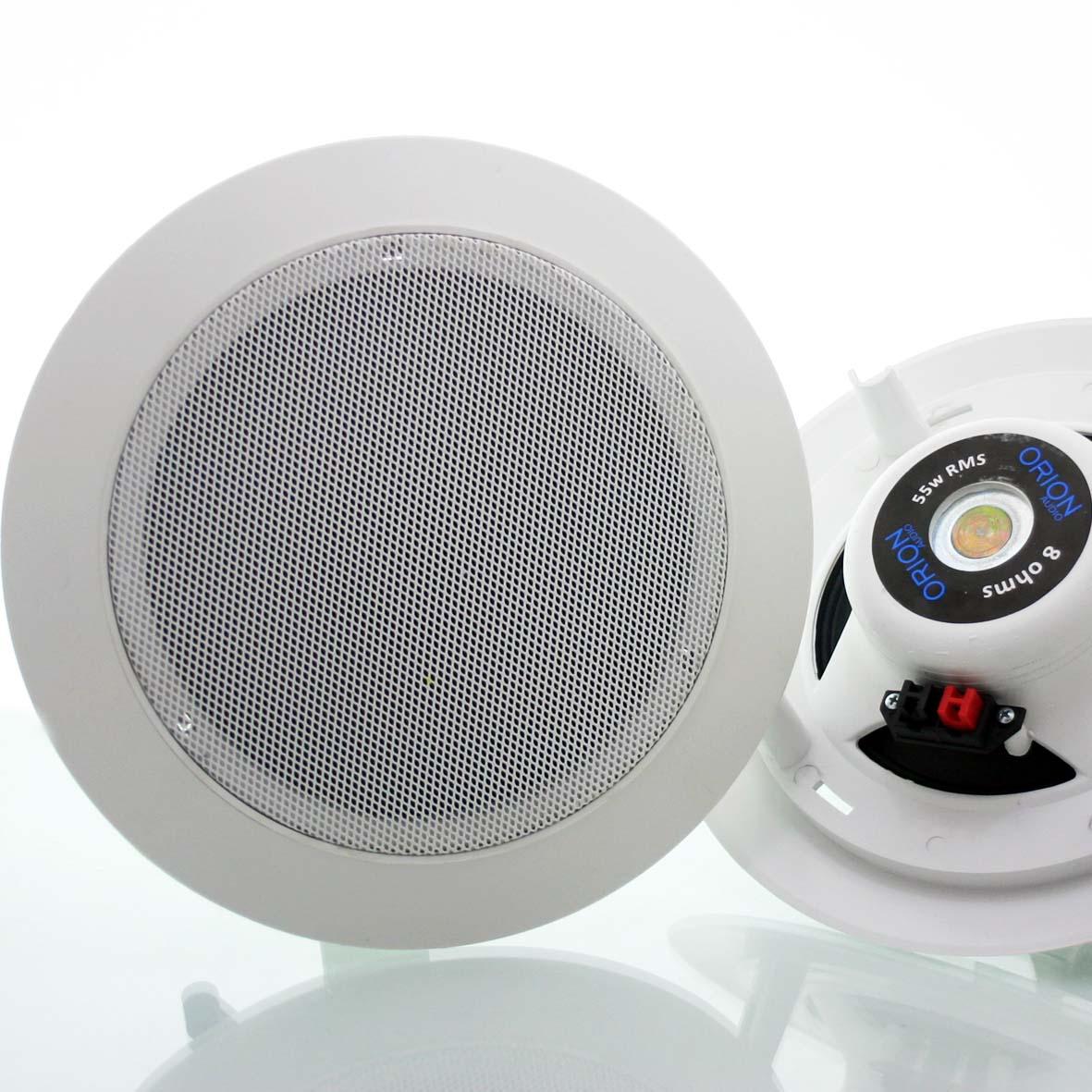 Caixa acústica arandela de embutir redonda 6 Pol  55w
