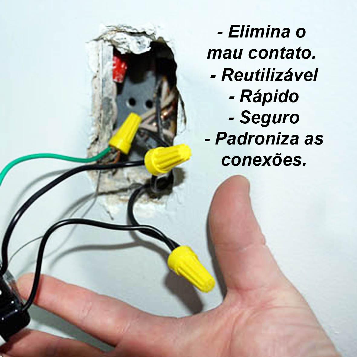 Conector De Torção Laranja Emenda Para Cabos Fios (250pçs)