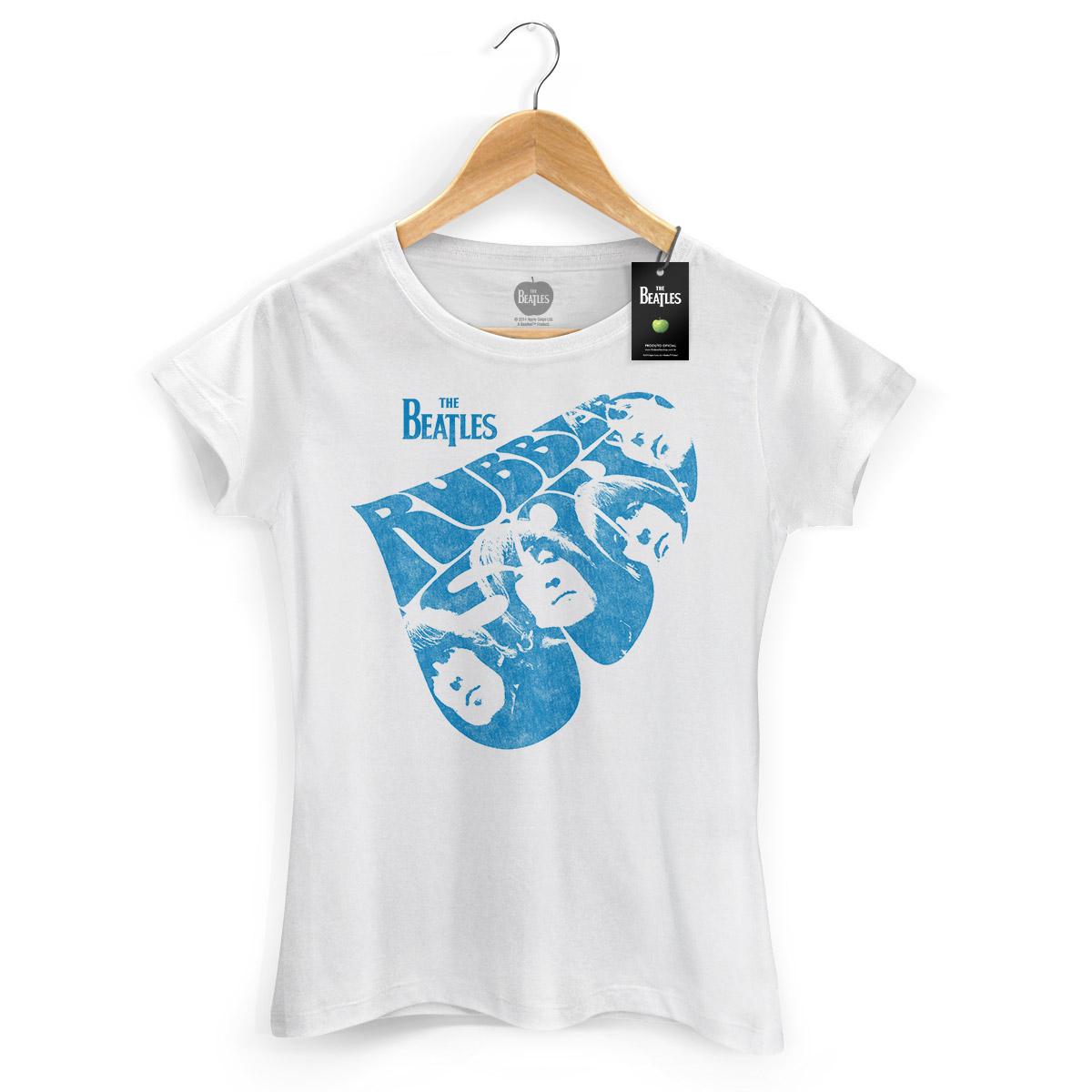 Camiseta Feminina The Beatles Rubber Soul
