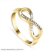 Anel Ouro Luan Santana Sempre Com Você