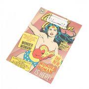 Bloco de anota��o com prancheta Wonder Woman