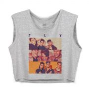 Blusa Cropped Feminina Banda Fly Pictures