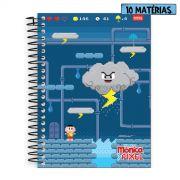 Caderno Turma da Mônica Pixel Cascão 10 Matérias