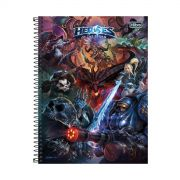 Caderno Heroes Of The Storm Logo 1 Mat�ria